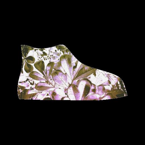 Foliage #4 - Jera Nour Aquila High Top Microfiber Leather Women's Shoes (Model 027)