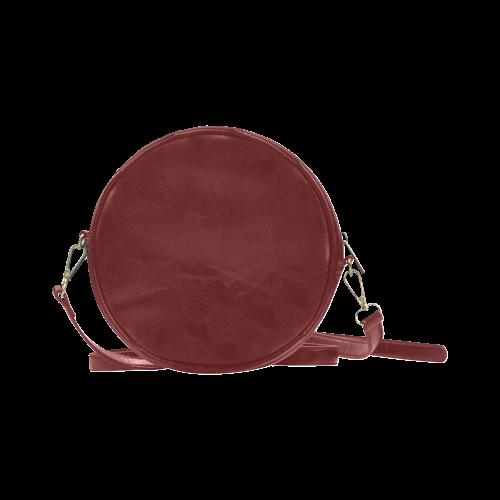 Tiger and Sunset Round Sling Bag (Model 1647)