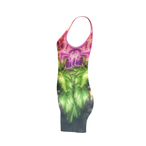Purple Flowers Classic One Piece Swimwear (Model S03)