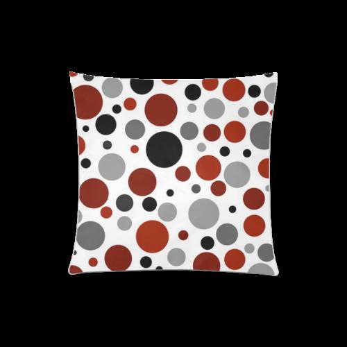"red black gray POLKA DOT Custom Zippered Pillow Case 20""x20""(One Side)"