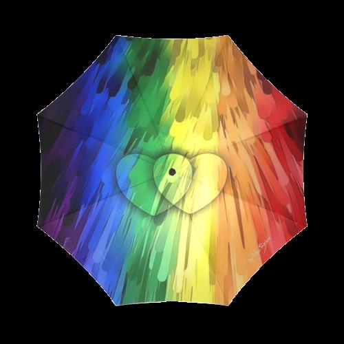 Pride Colors by Nico Bielow Foldable Umbrella (Model U01)