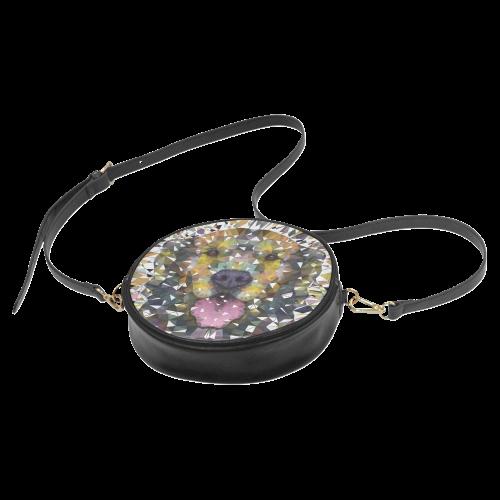 rainbow dog Round Sling Bag (Model 1647)