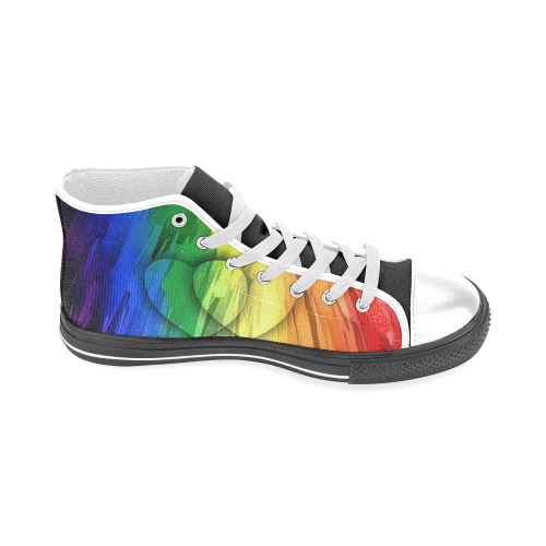 Pride Colors by Nico Bielow Men's Classic High Top Canvas Shoes (Model 017)