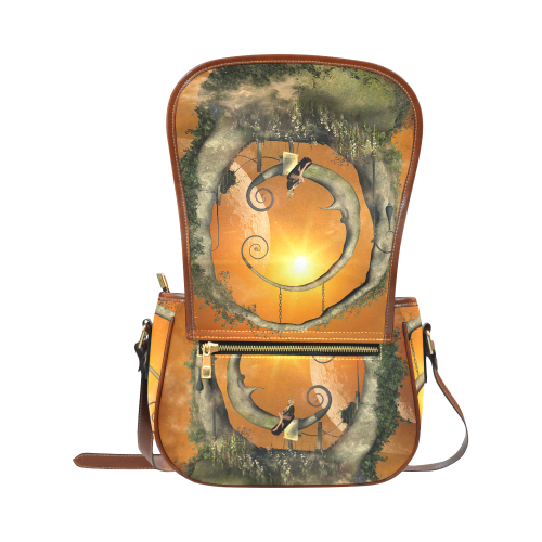 The moon Saddle Bag/Small (Model 1649) Full Customization