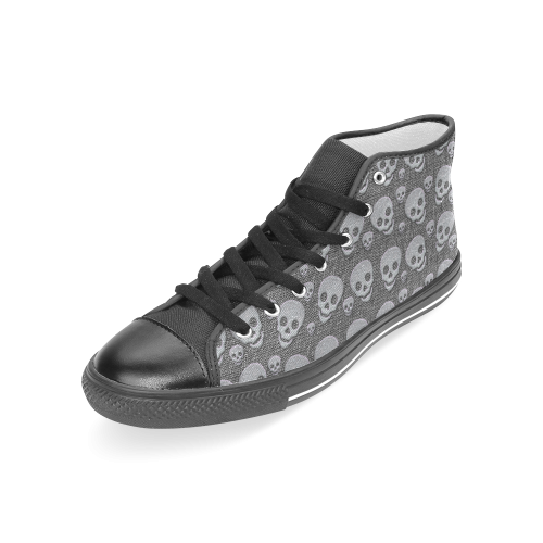 SKULLS EVOLUTION Women's Classic High Top Canvas Shoes (Model 017)