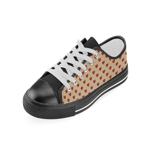 Retro Hearts Women's Classic Canvas Shoes (Model 018)