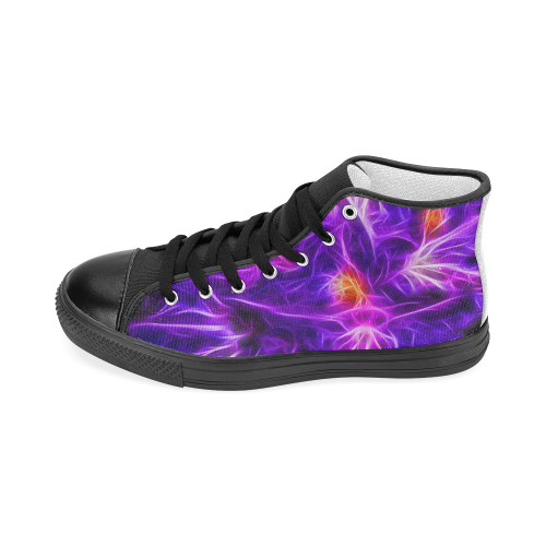 Rhododendron Topaz Men's Classic High Top Canvas Shoes (Model 017)