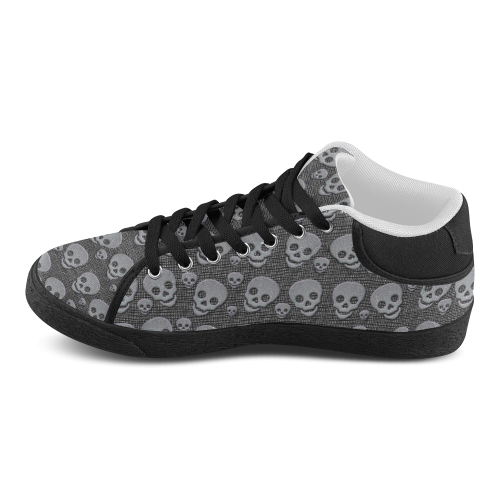SKULLS EVOLUTION Women's Chukka Canvas Shoes (Model 003)