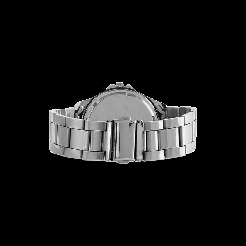 VEGAN CALF Unisex Stainless Steel Watch(Model 103)