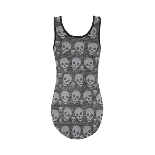 SKULLS REVOLUTION Vest One Piece Swimsuit (Model S04)