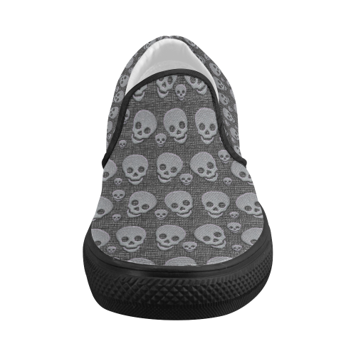SKULLS EVOLUTION Women's Slip-on Canvas Shoes (Model 019)