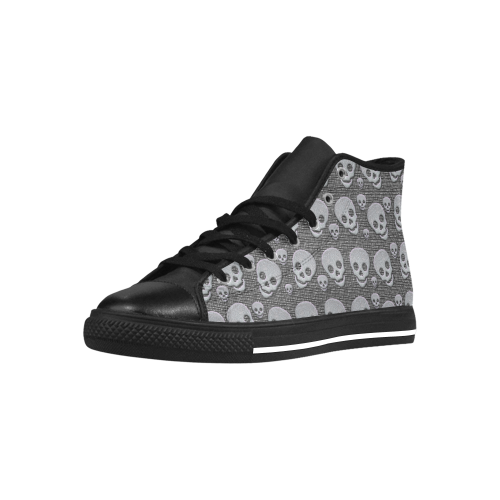 SKULLS EVOLUTION Aquila High Top Microfiber Leather Women's Shoes (Model 027)