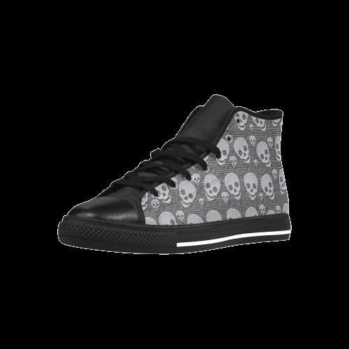SKULLS EVOLUTION Aquila High Top Action Leather Women's Shoes (Model 027)