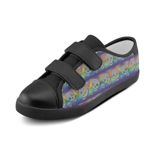 SKULLS 4 KIDS Velcro Canvas Kid's Shoes (Model 008)