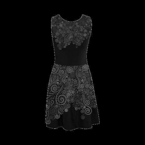 Black+White Rose Atalanta Sundress (Model D04)