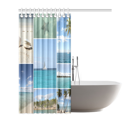 Isla Saona Caribbean Photo Collage Shower Curtain