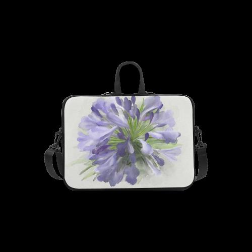 Purple Flower Laptop Handbags 13