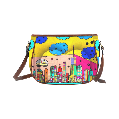 Chicago by Nico Bielow Saddle Bag/Small (Model 1649) Full Customization