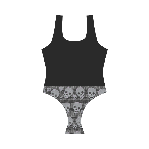 Skullsandblack Vest One Piece Swimsuit (Model S04)