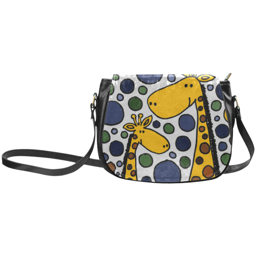 Funny Giraffes Abstract Art Classic Saddle Bag/Small (Model 1648)
