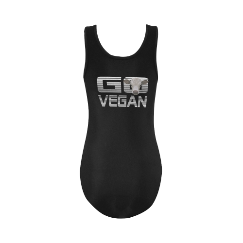 GO VEGAN CALF Vest One Piece Swimsuit (Model S04)
