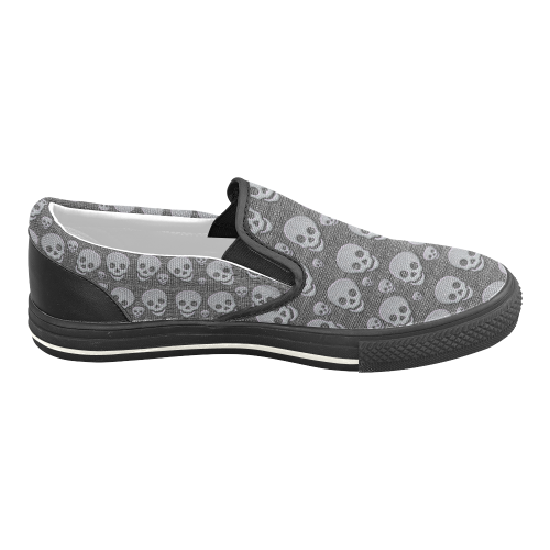 SKULLS EVOLUTION Men's Slip-on Canvas Shoes (Model 019)