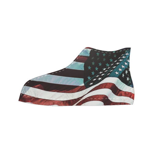 A abstract waving usa flag Men's Classic High Top Canvas Shoes (Model 017)