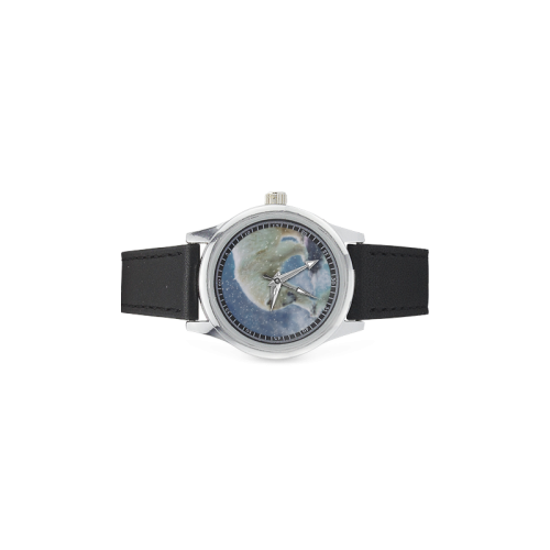 A polar bear at the water Kid's Stainless Steel Leather Strap Watch(Model 208)