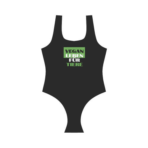 VEGAN LEBEN Vest One Piece Swimsuit (Model S04)