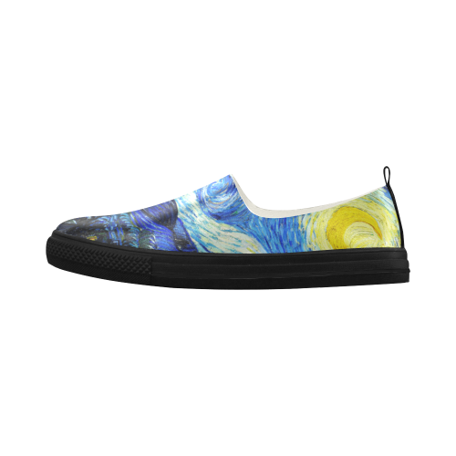 Starry Night Apus Slip-on Microfiber Women's Shoes (Model ...