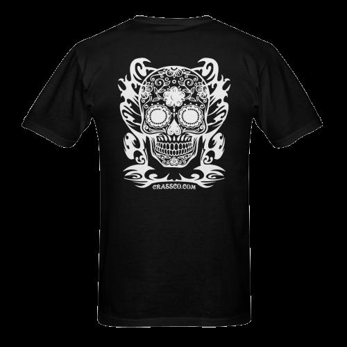 SKULL FLOWERS I Sunny Men's T-shirt (USA Size) (Model T02)