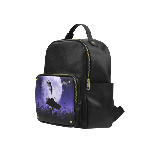 A beautiful fairy dancing on a mushroom silhouette Campus backpack/Small (Model 1650)