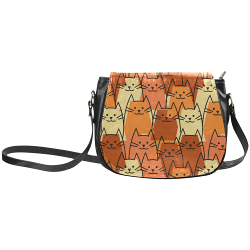 Cute Cats Classic Saddle Bag/Large (Model 1648)