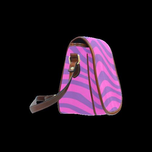 Cheshire Stripes Saddle Bag/Small (Model 1649) Full Customization