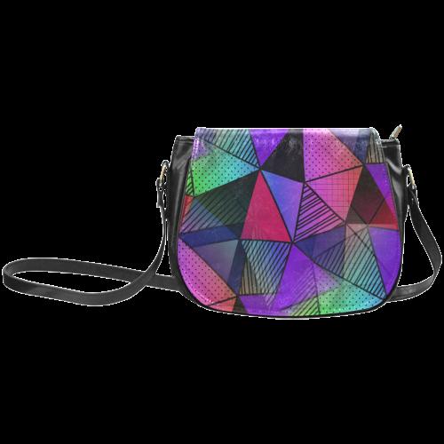 Modern Triangles Classic Saddle Bag/Large (Model 1648)