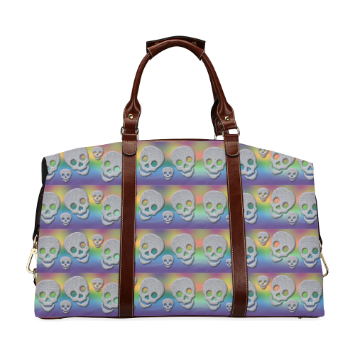 SKULLS MULTICOLOR Classic Travel Bag (Model 1643)