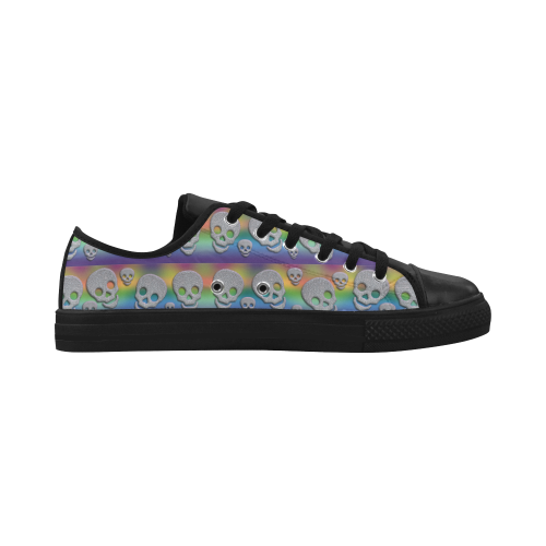 SKULLS MULTICOLOR Aquila Action Leather Women's Shoes (Model 028)