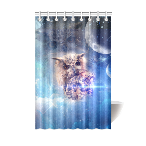 Owl In The Universe Shower Curtain 48x72