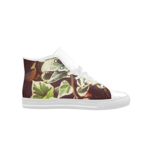Hidden Frangipani Aquila High Top Microfiber Leather Women's Shoes (Model 027)