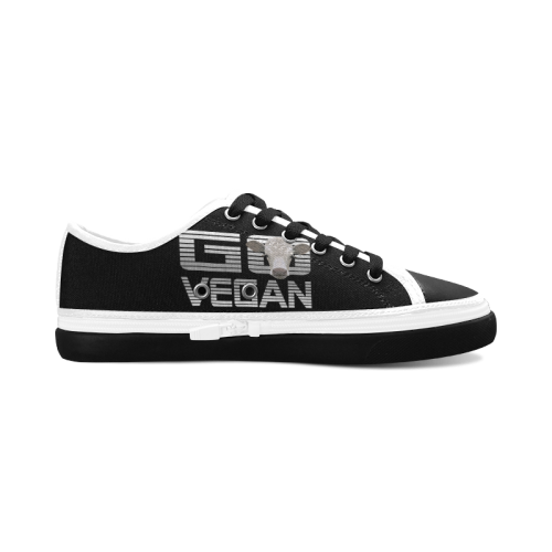 GO VEGAN CALF Women's Canvas Zipper Shoes (Model 001)