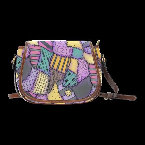 Sally Dress Saddle Bag/Small (Model 1649) Full Customization