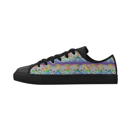 SKULLS MULTICOLOR Aquila Microfiber Leather Women's Shoes (Model 028)