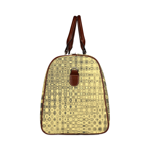 GOLD LUXURY TEXTURE Waterproof Travel Bag/Large (Model 1639)