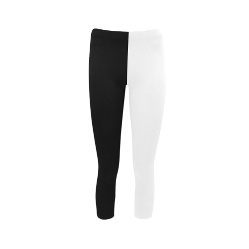 6be110b8e172b5 Black And White Capri Legging (Model L02) | ID: D285507