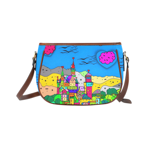 Neuschwanstein Castle by Nico Bielow Saddle Bag/Small (Model 1649) Full Customization