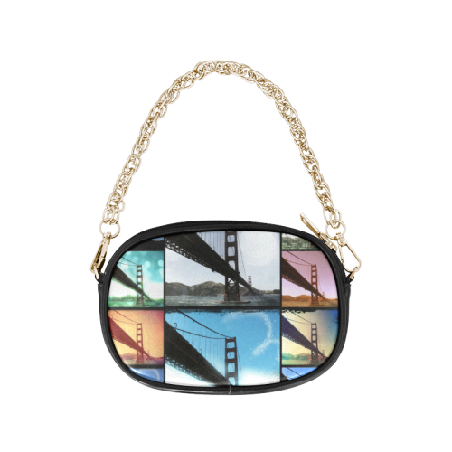 Golden Gate Bridge Collage Chain Purse (Model 1626)