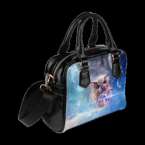 Owl in the universe Shoulder Handbag (Model 1634)