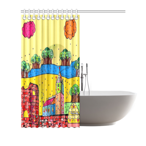 "Immekath by Nico Bielow Shower Curtain 72""x72"""