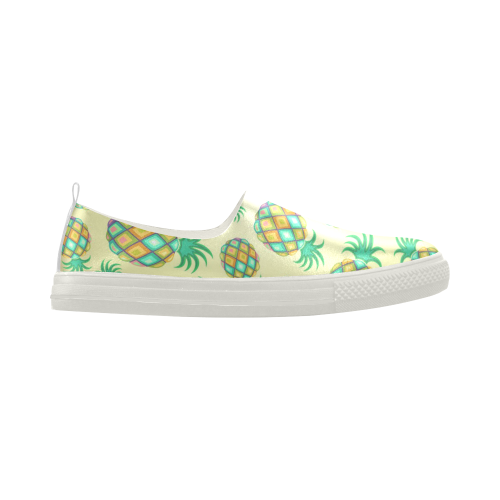 Pineapple Pastel Colors Pattern Apus Slip-on Microfiber Women's Shoes (Model 021)