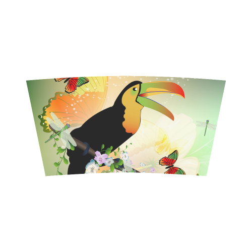 Funny toucan with flowers Bandeau Top